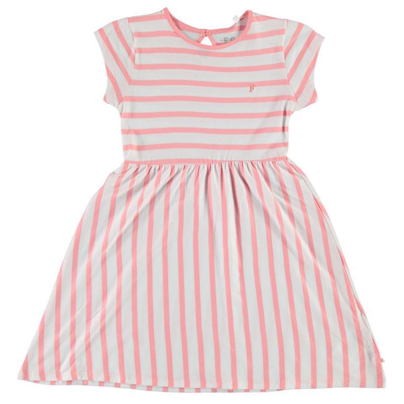 Šaty French Connection Striped Jersey Dress Fizi Pink