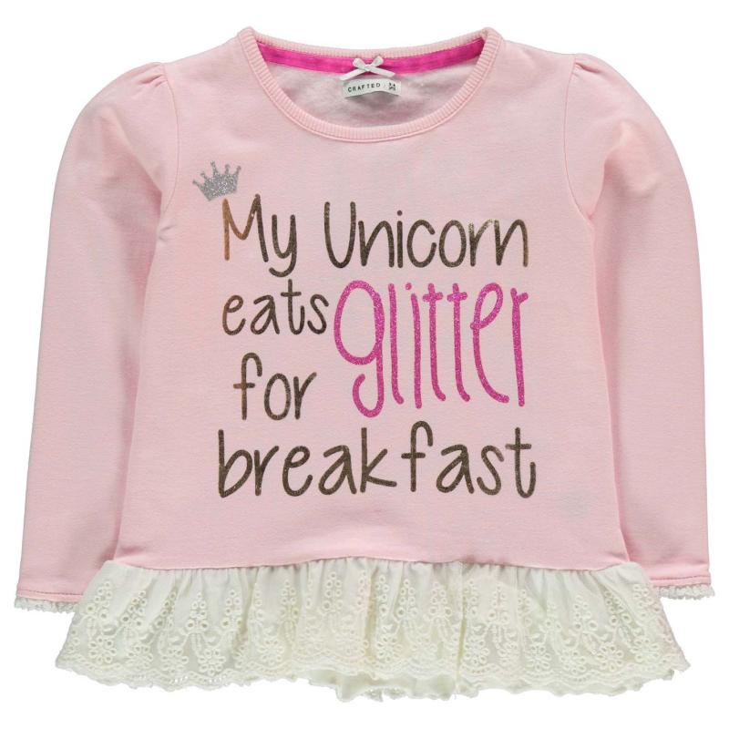 Crafted Graphic Sweater Child Girls Pink