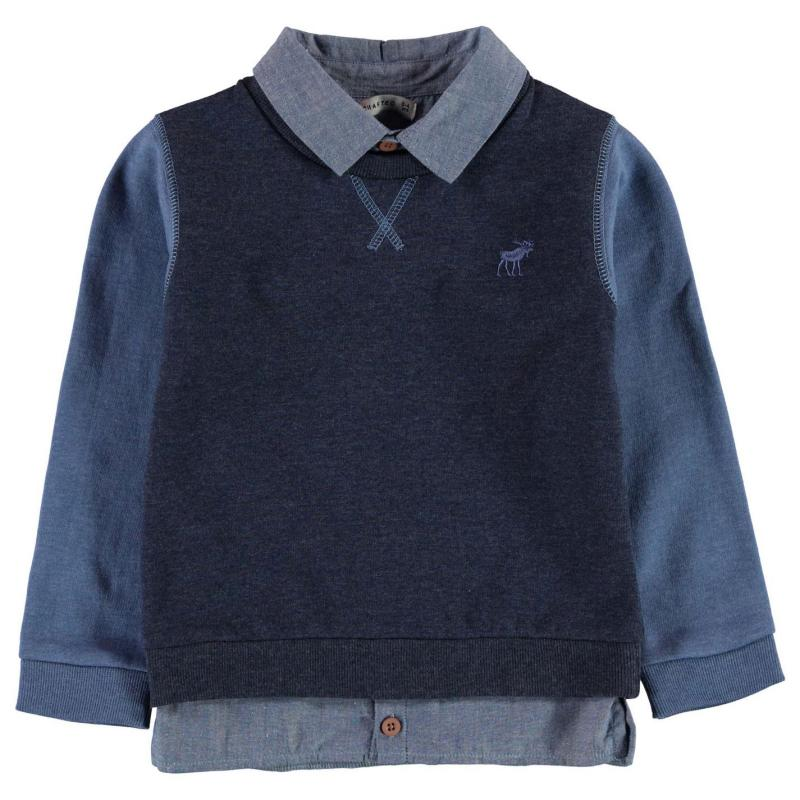 Crafted Mock Shirt Sweater Baby Boys Navy TBC
