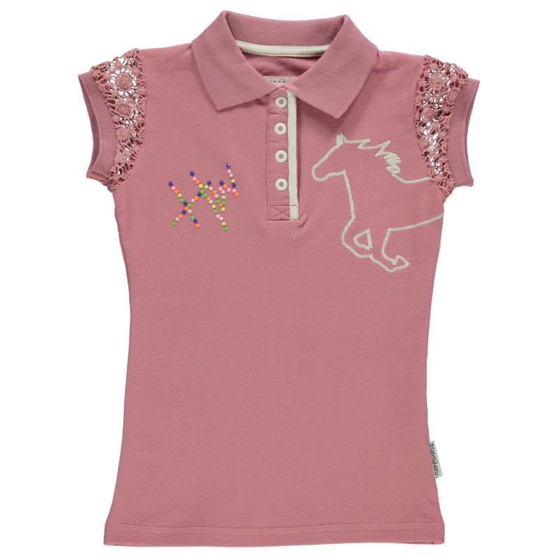 Horseware Pique Polo Shirt Infant Girls Brittany Blue