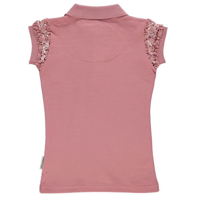 Horseware Pique Polo Shirt Infant Girls Rosette Pink