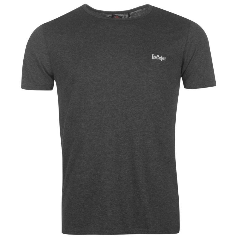Tričko Lee Cooper Casual T Shirt Mens Grey