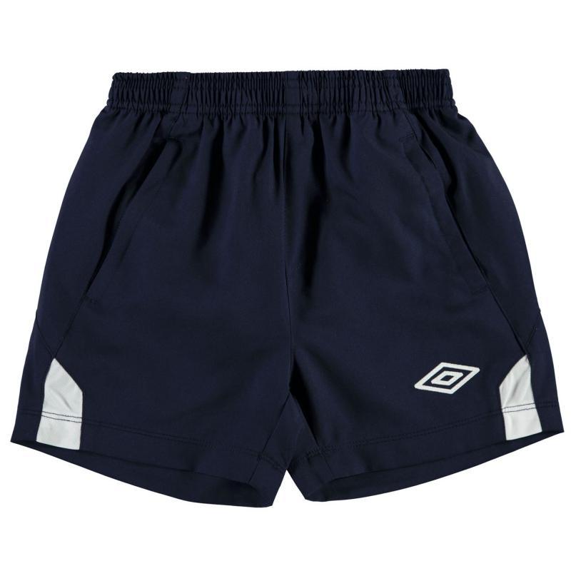Kraťasy Umbro Training Woven Shorts Junior Boys Navy/White