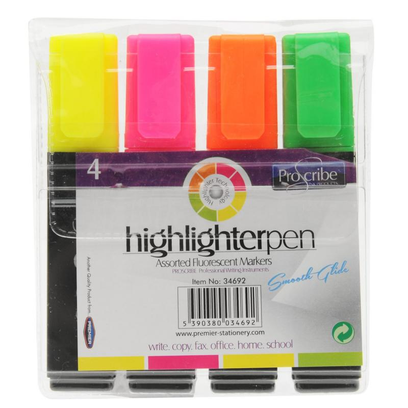 ProScribe Highlighters Pack of 4 -