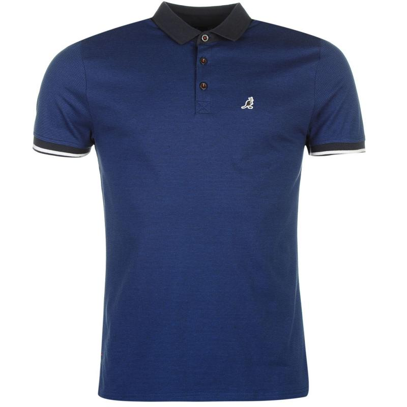 Kangol Pinstripe Polo Shirt Mens Royal