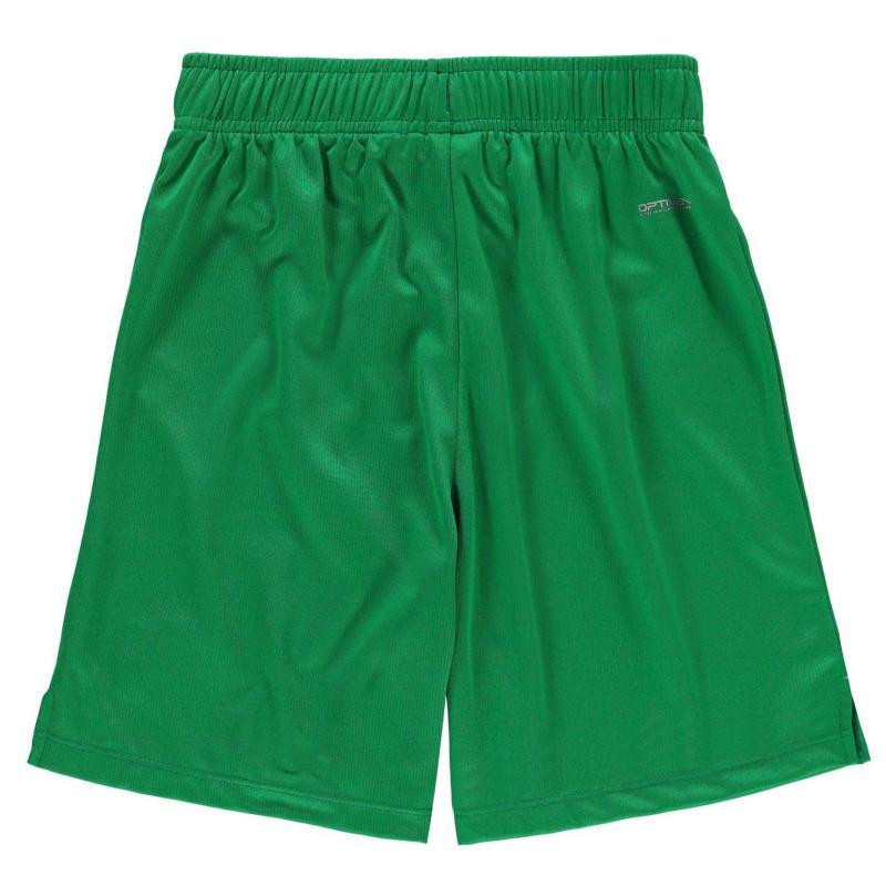 Kraťasy Sondico Grass Roots Football Shorts Junior Emerald Green