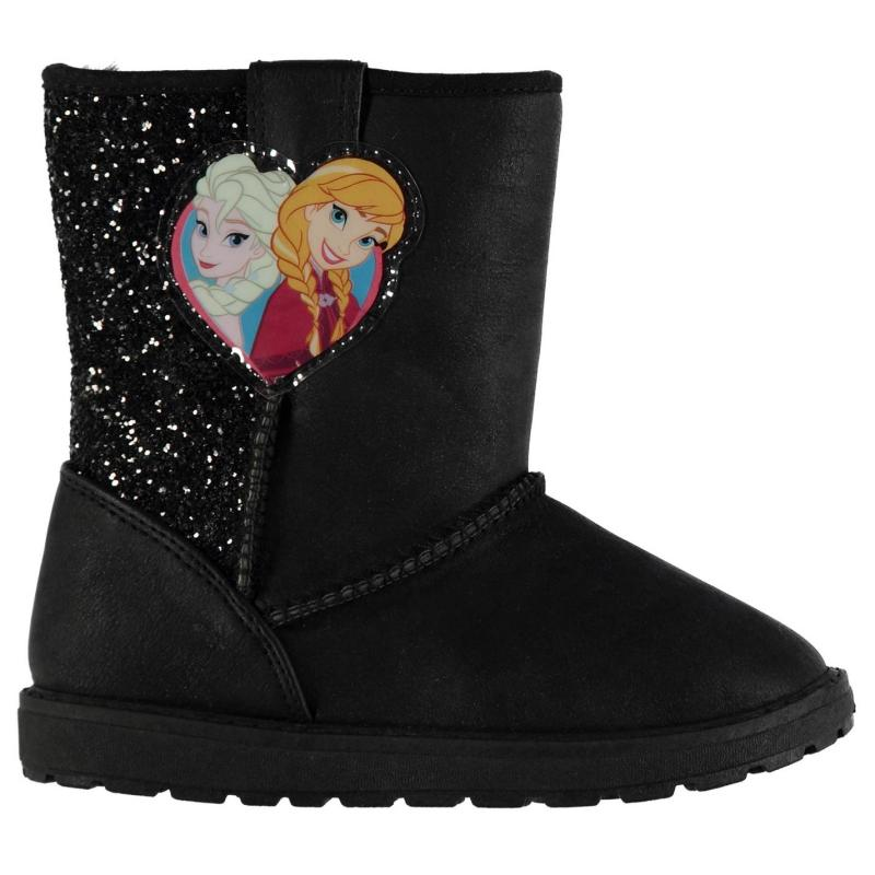 Disney PU Hug Boots Infant Girls Frozen Blk