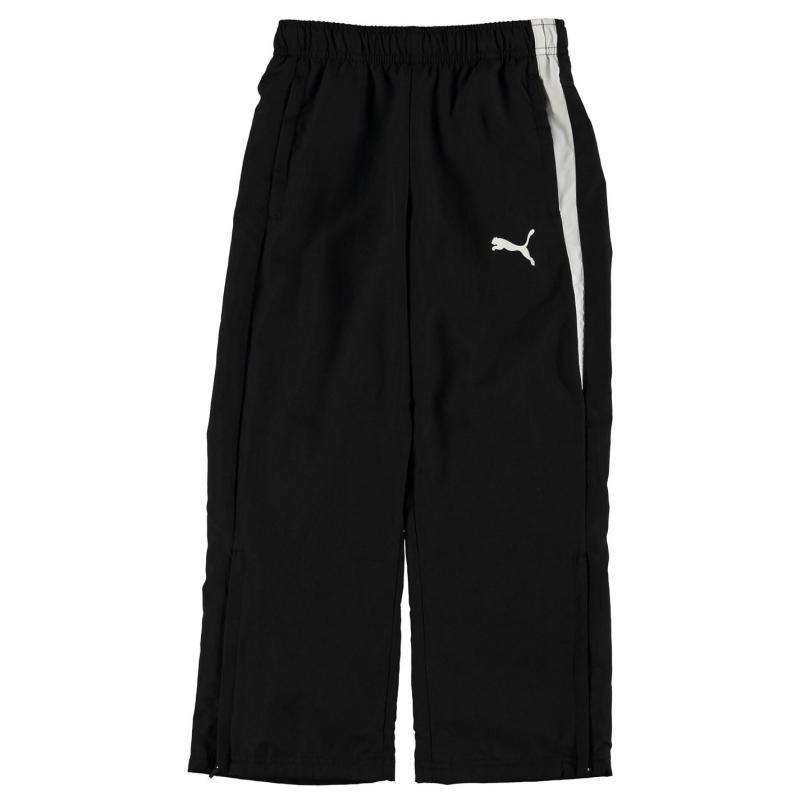 Tepláky Puma Spirit Woven Pants Junior Boys Black/White