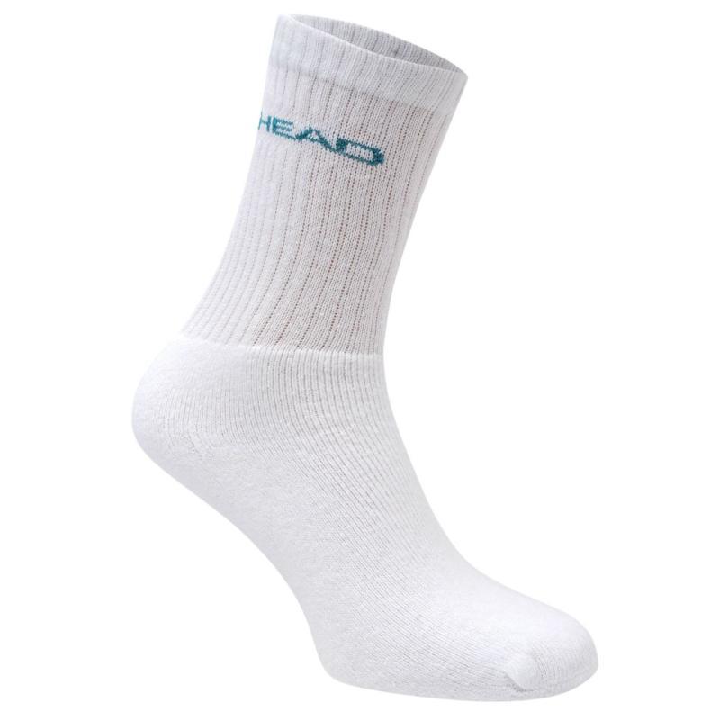 Ponožky HEAD Crew 3 Pack Sports Socks Mens Sea Green