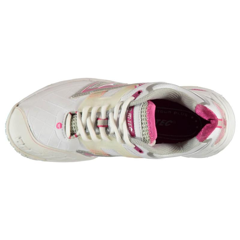 Hi Tec Tec T701WS Squash Shoes Ladies White/Phlox