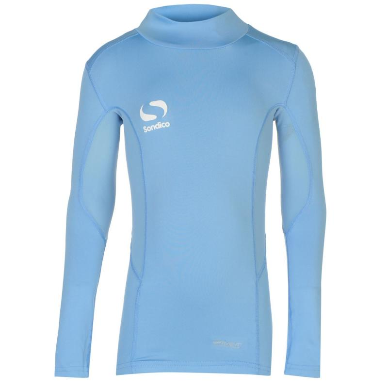 Sondico Mock Neck Baselayer Juniors Sky Blue