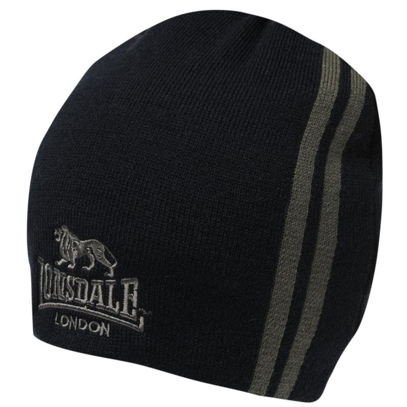 Lonsdale Two Stripe Hat Mens Navy