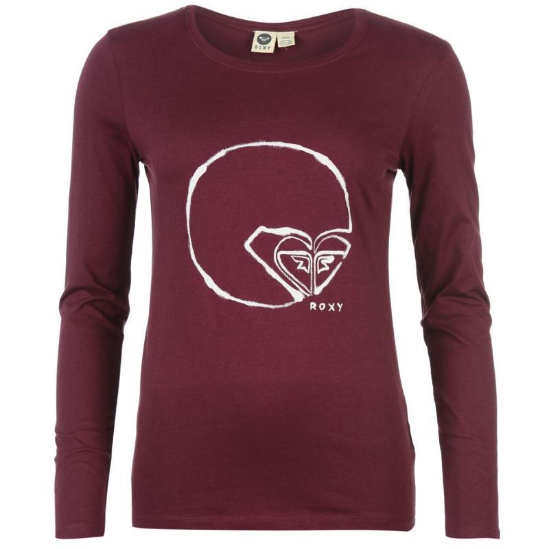 Roxy AlongWay Long Sleeve T Shirt Ladies Burgundy
