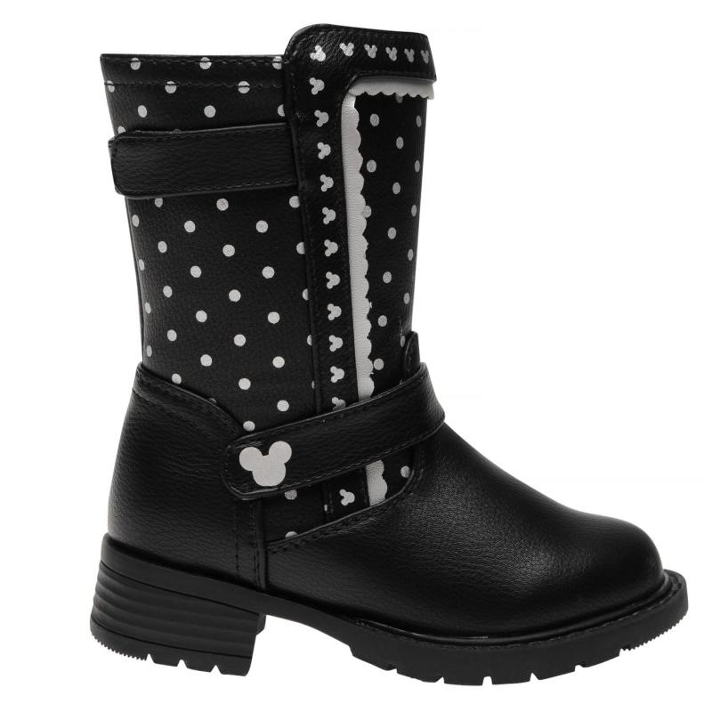 Disney Character Calf Boots Junior Girls Disney Minnie