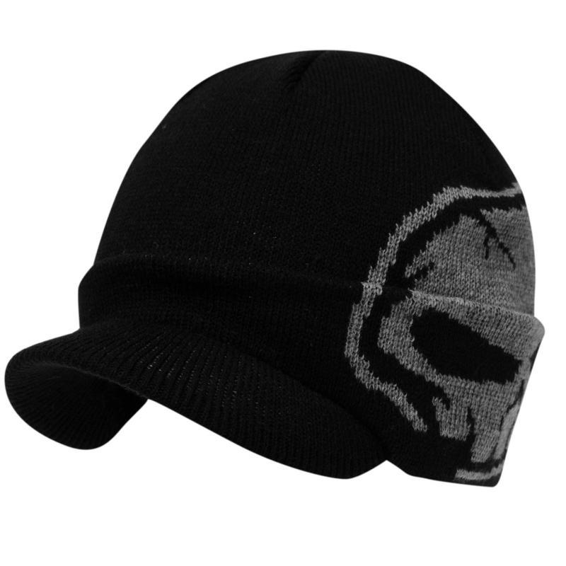 No Fear Tower Peak Winter Hat Junior Boys Black/Grey