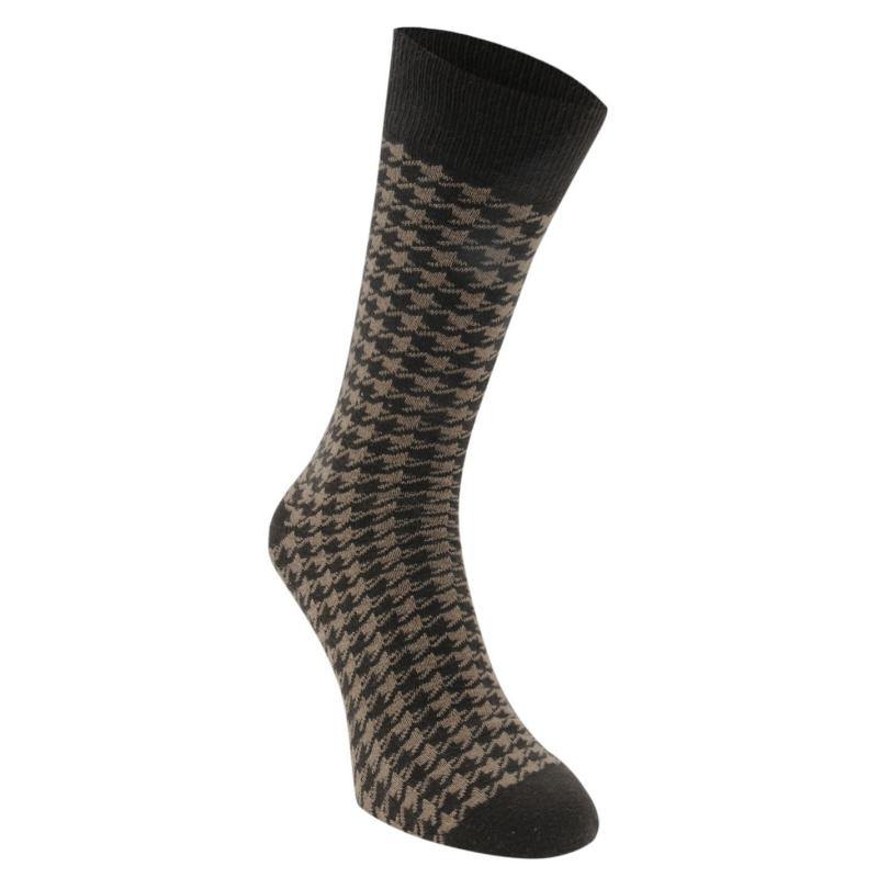 Ponožky SoulCal 1 Pack Mens Ankle Socks Grey Dogtooth