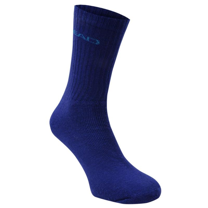 Ponožky HEAD Crew 3 Pack Sports Socks Mens Lime