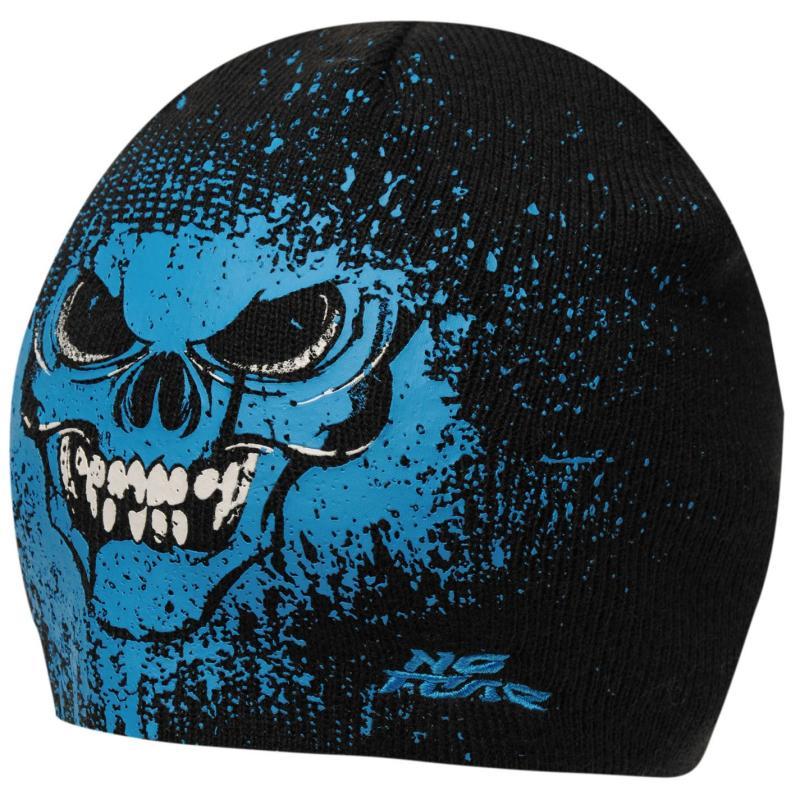 No Fear Beanie Hat Junior Boys Black/Blue