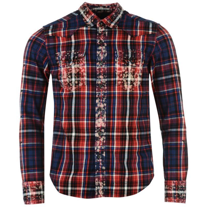Košile Replay Shirt Mens Black