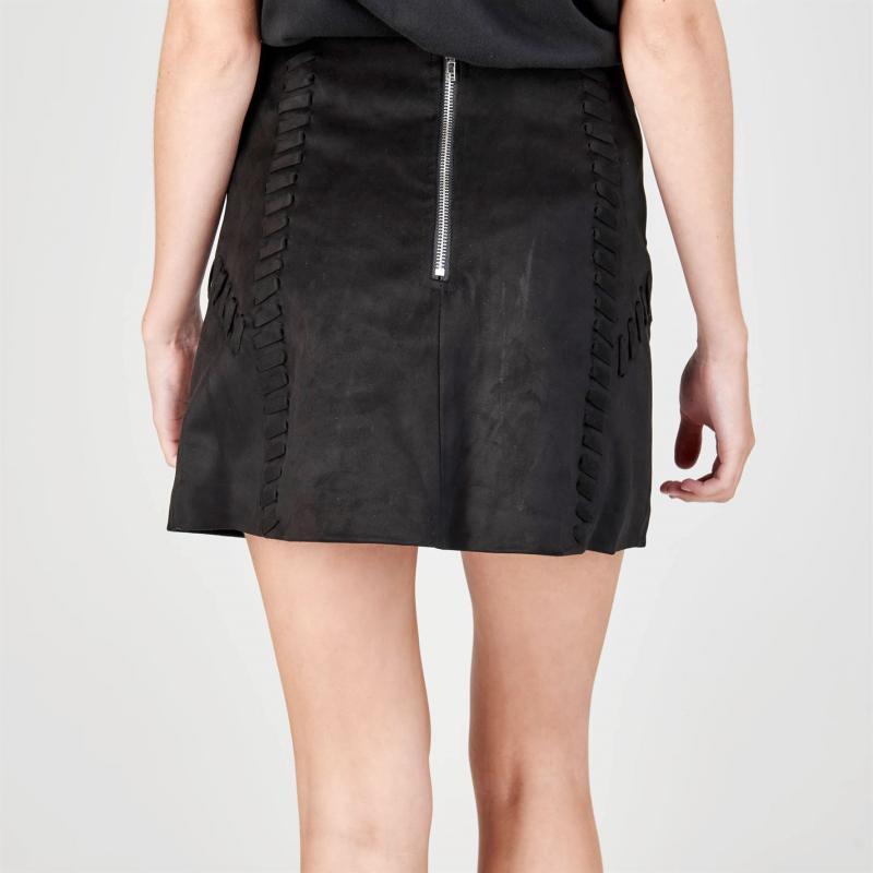 Šaty Glamorous Suede Skirt Black