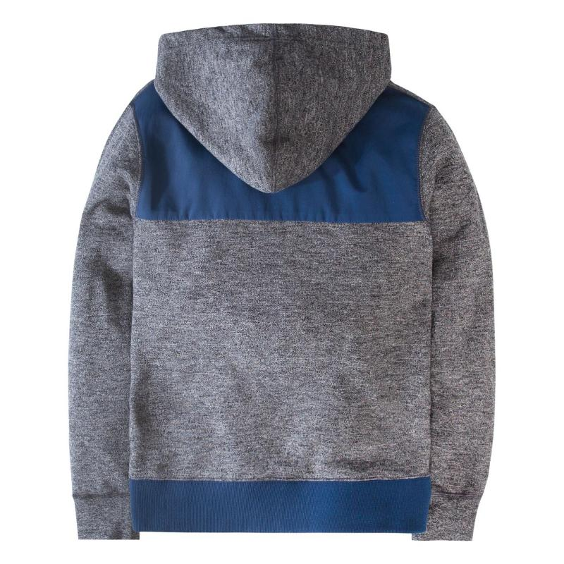 Mikina Converse Two Colour Zipped Hoodie Grey