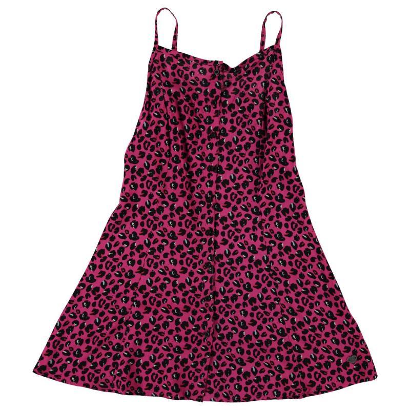 Šaty Lee Cooper Strappy Woven Dress Junior Girls AOP Leopard