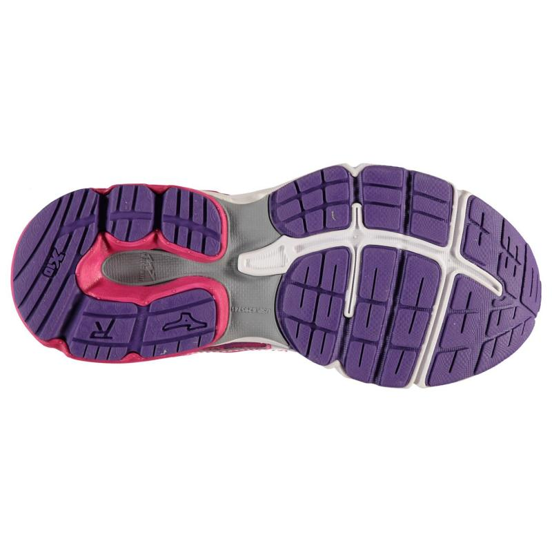 Mizuno Wave Rider 19 Running Shoes Junior Girls Purple/Pink