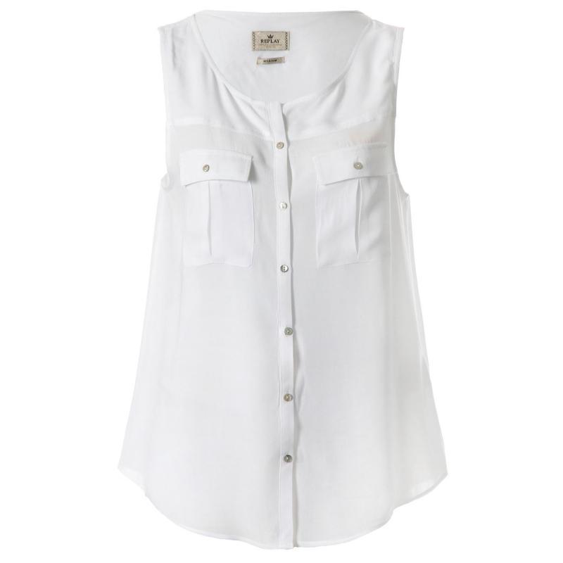 Košile Replay Blouse 001 White