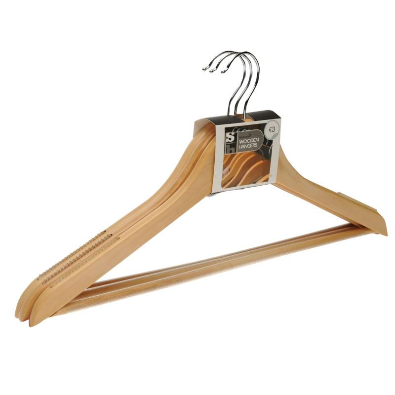 Stanford Home 3 Pack Wooden Hangers No Colour