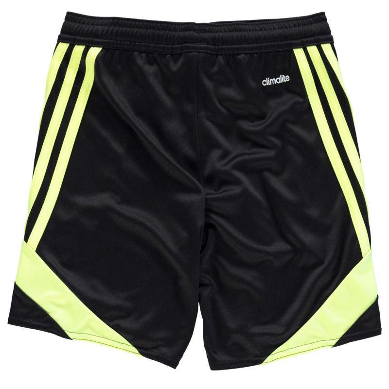 Kraťasy adidas 3 Stripe Nova Shorts Junior Boys Black/SolYellow