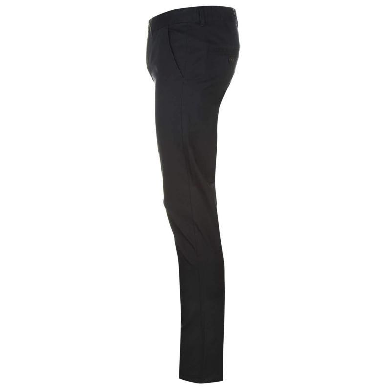 Kalhoty Pierre Cardin Slim Fit Trousers Mens Burgundy