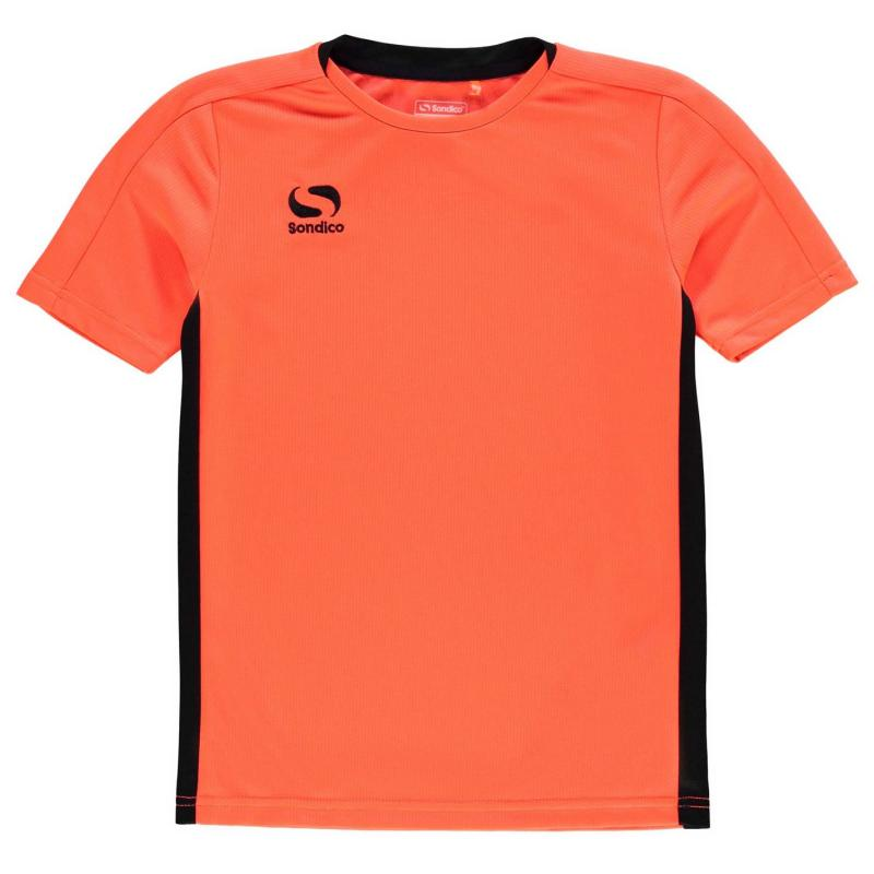Tričko Sondico Fundamental T Shirt Junior Boys FluOrange/Blk