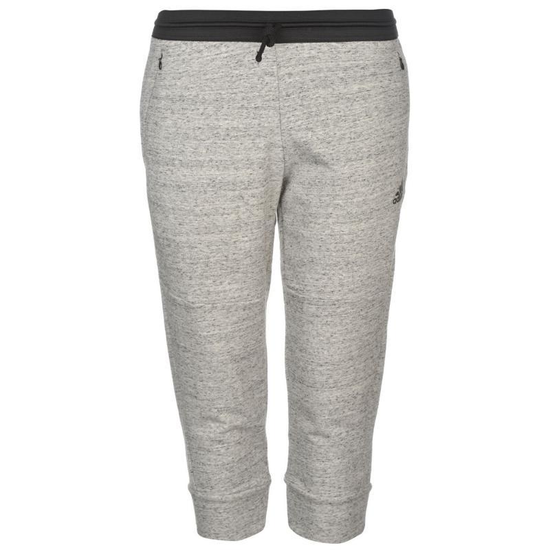 adidas ID Fleece Three Quarter Pants Ladies Med Grey