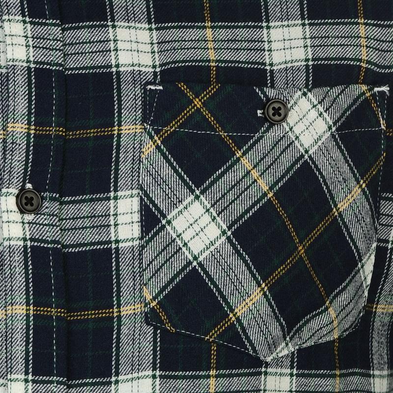 Košile Soviet Flannel Checked Shirt Mens Navy