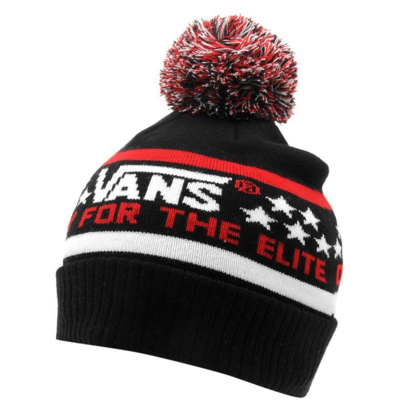 Vans Elite Junior Beanie Hat Black/Red