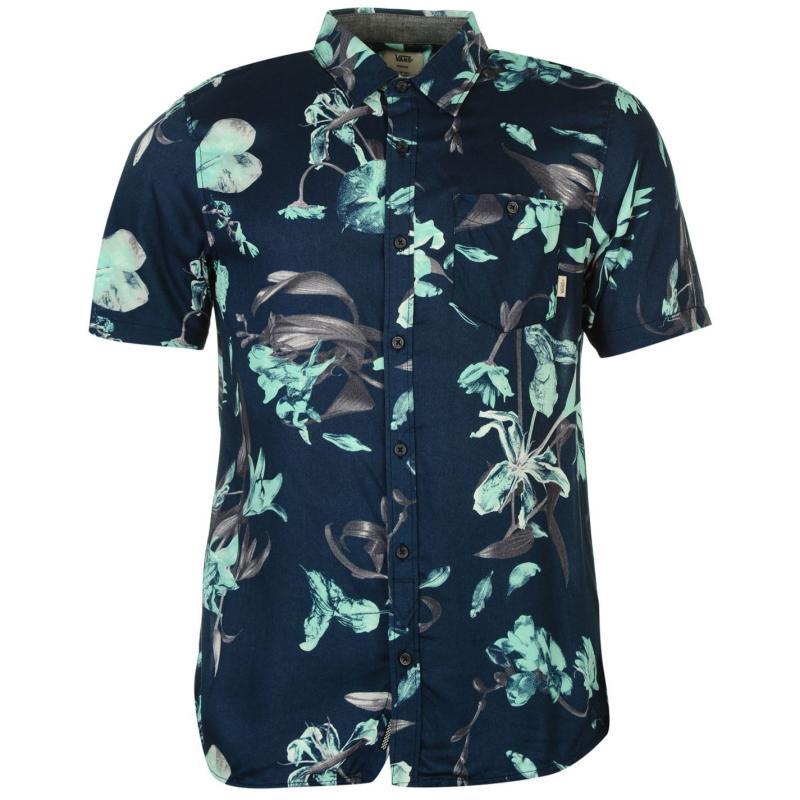 Košile Vans Junipero Short Sleeve Mens Shirt Navy