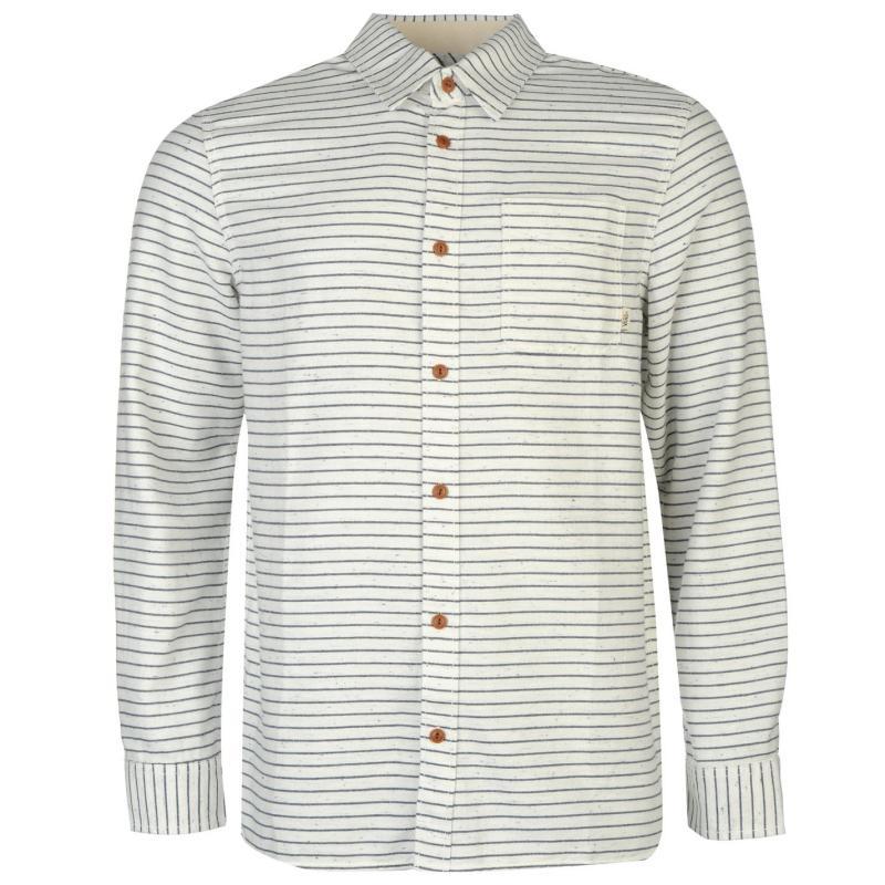 Košile Vans Serben Long Sleeve Shirt White/Blue