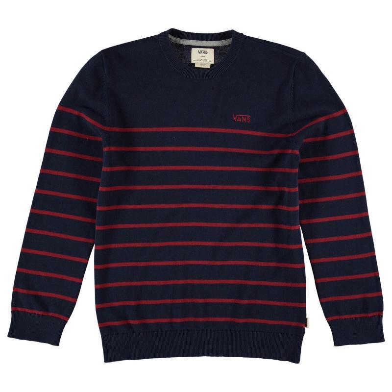 Vans Livingston Crew Sweater Junior Boys Black/Red