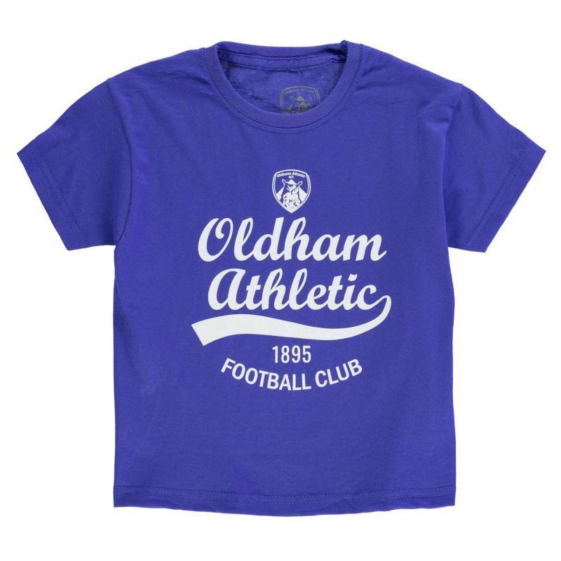 Tričko Team Oldham Graphic T Shirt Infant Royal
