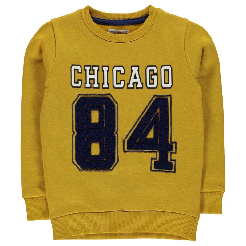 Crafted Crew Neck Sweater Child Boys Mustard Chicago
