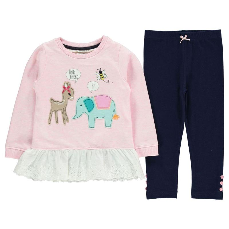 Šaty Crafted 2 Piece Frilled Top and Leggings Set Child Girls...