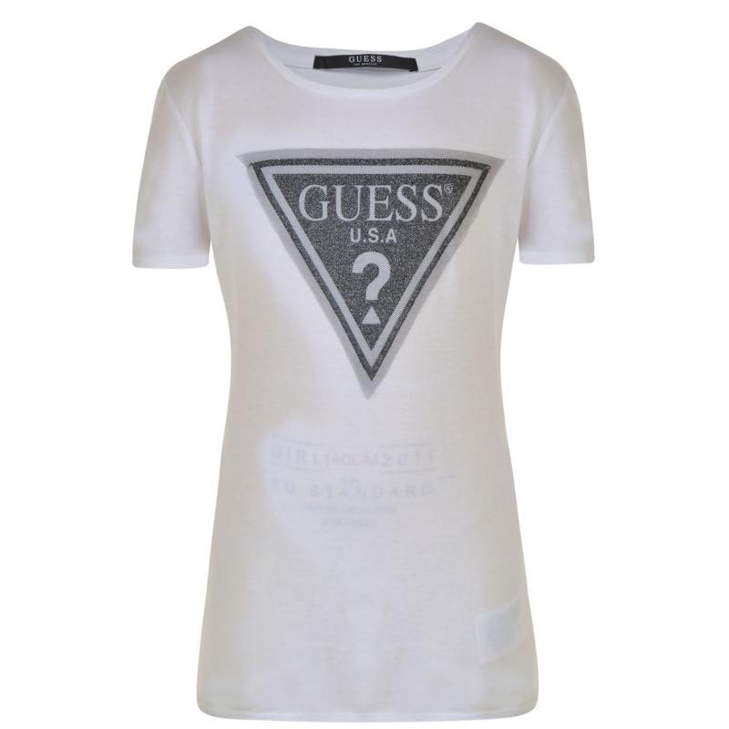 Guess Logo T Shirt True White