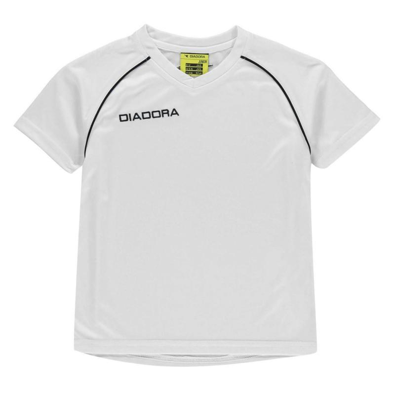 Diadora Madrid T Shirt Junior Boys Red/White