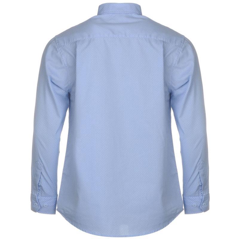 Košile Pierre Cardin Long Sleeve Shirt Mens Pink/Wht Stripe
