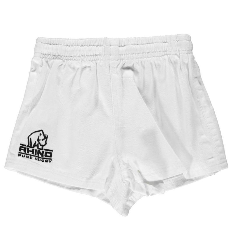 Kraťasy Rhino Rugby Zip Rugby Shorts Junior Boys White