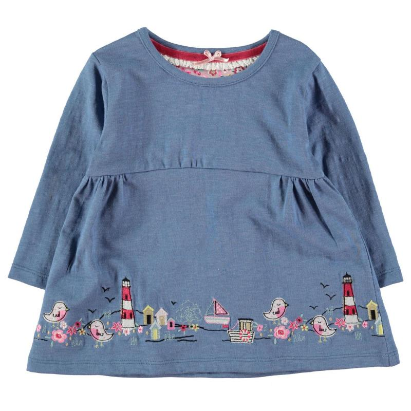 Šaty Crafted Tunic Set Baby Girls Pink/Blue