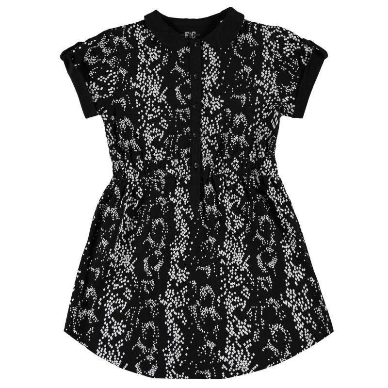 Šaty French Connection All Over Print Dress Black