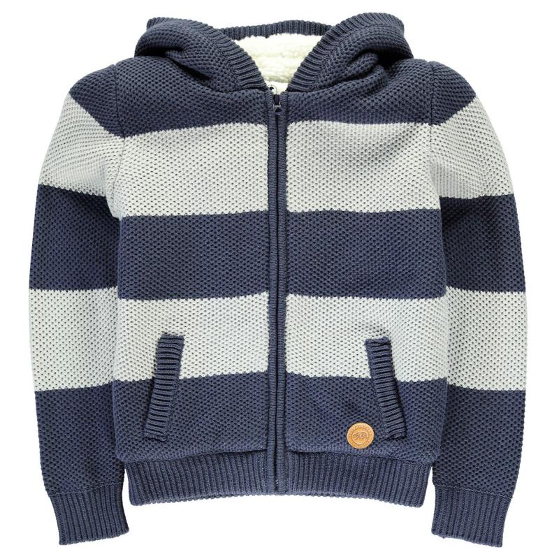 SoulCal Cal Stripe Lined Knit Junior Boys Navy/Grey Marl