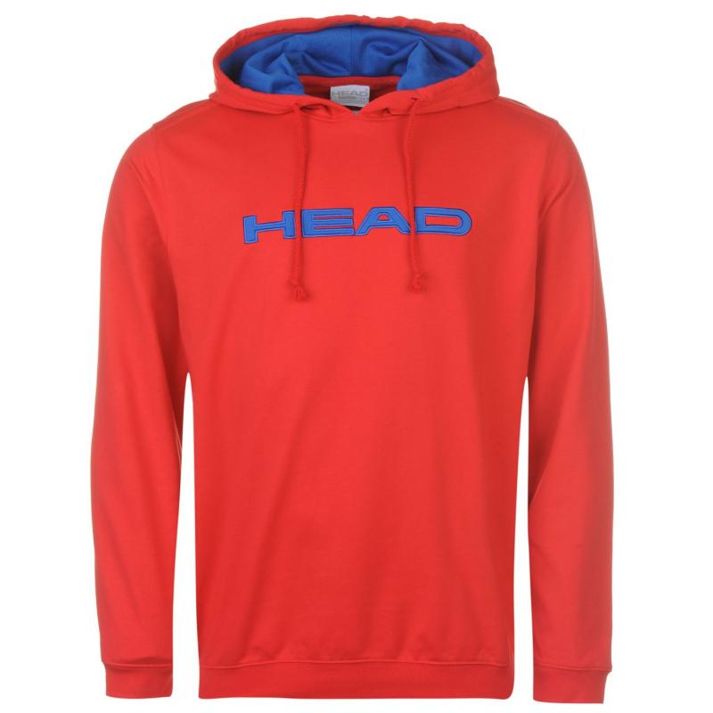 Mikina HEAD Bryon Hoody Mens Red/Blue