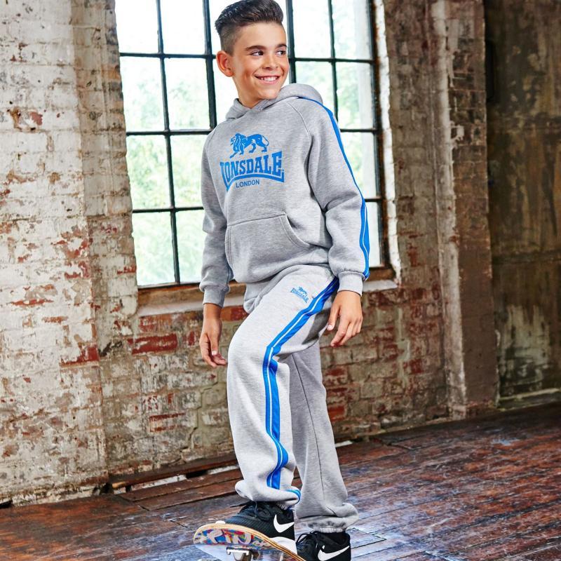 Tepláky Lonsdale Two Stripe Closed Hem Jogging Bottoms Junior...